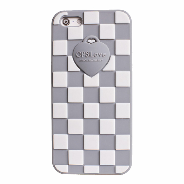 OPSCOVI5-07 OPS! Damier etui na Iphone 5/5s